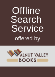 Offline Search Service offered by Walnut Valley Books